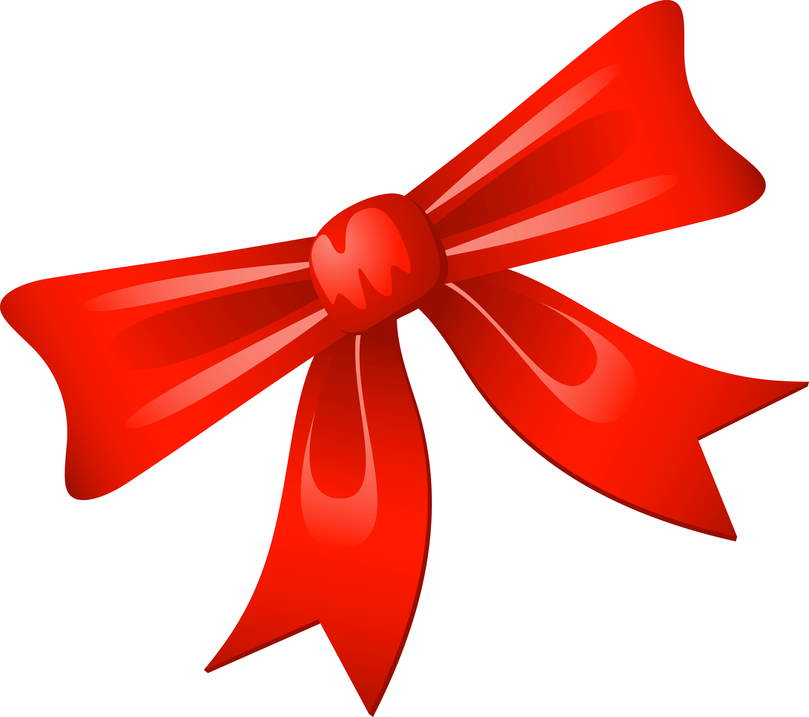 Red Christmas Bow Clip Art N3 free image.