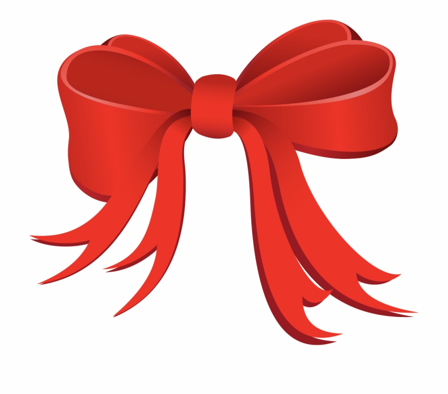 Red Christmas Bow Png.