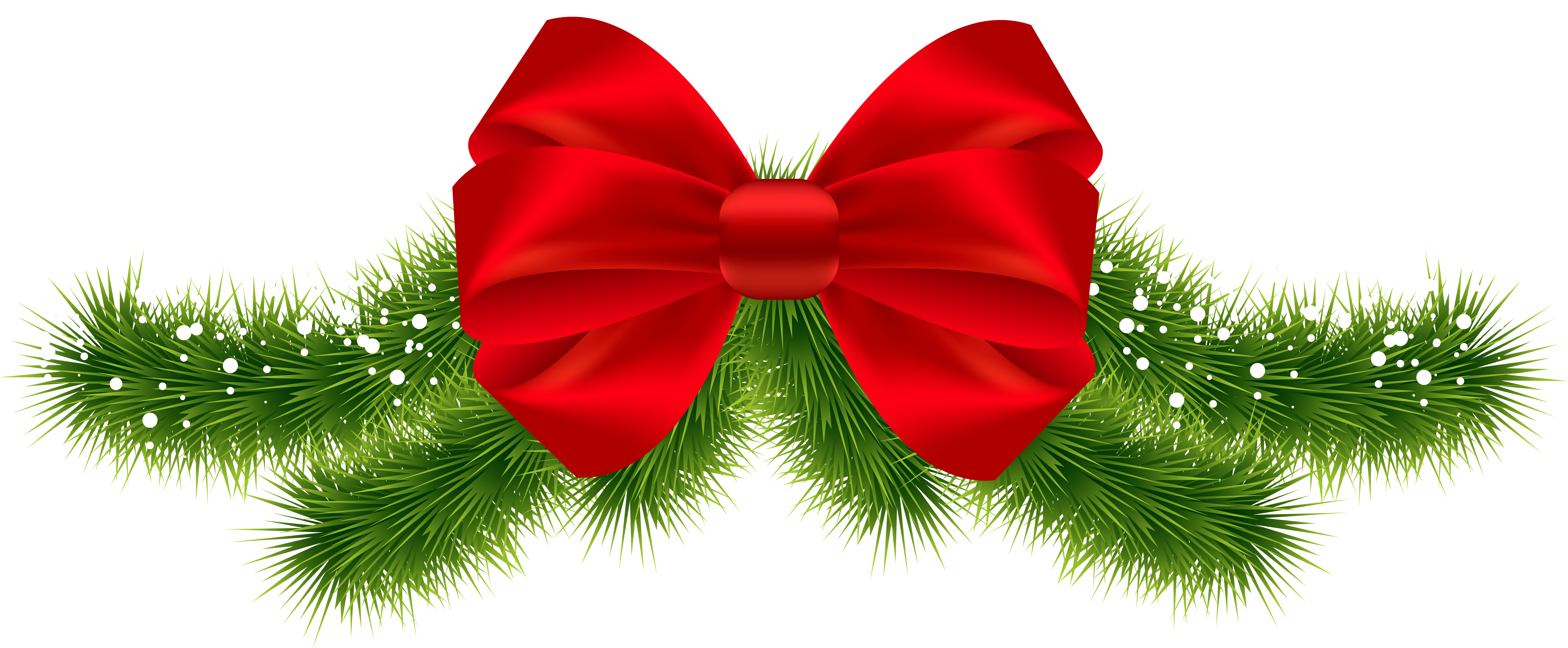 Christmas Red Bow PNG Clipart Image.