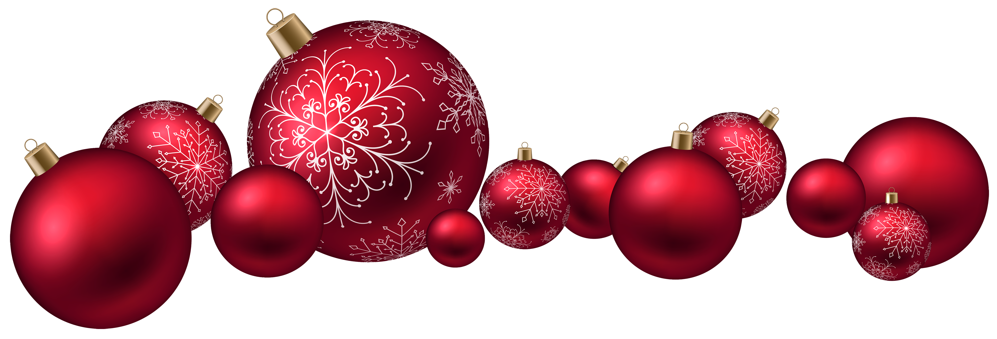 Red Christmas Ball PNG Clipart.