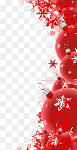 Red Christmas Decoration, Red, Christmas, Decoration PNG.