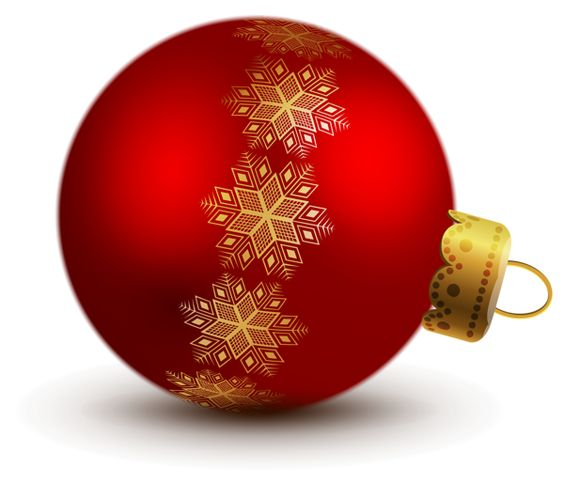 Red christmas ornament clipart.