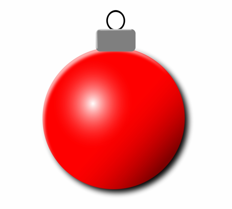 Red Christmas Ornament Png.