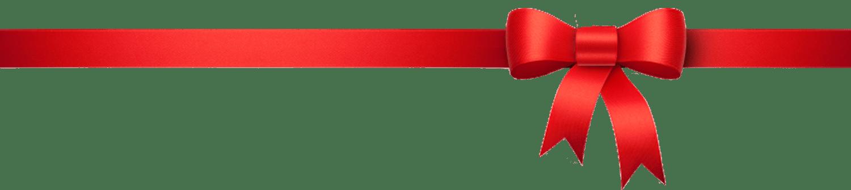 Red Christmas Ribbon Png Clip Art.