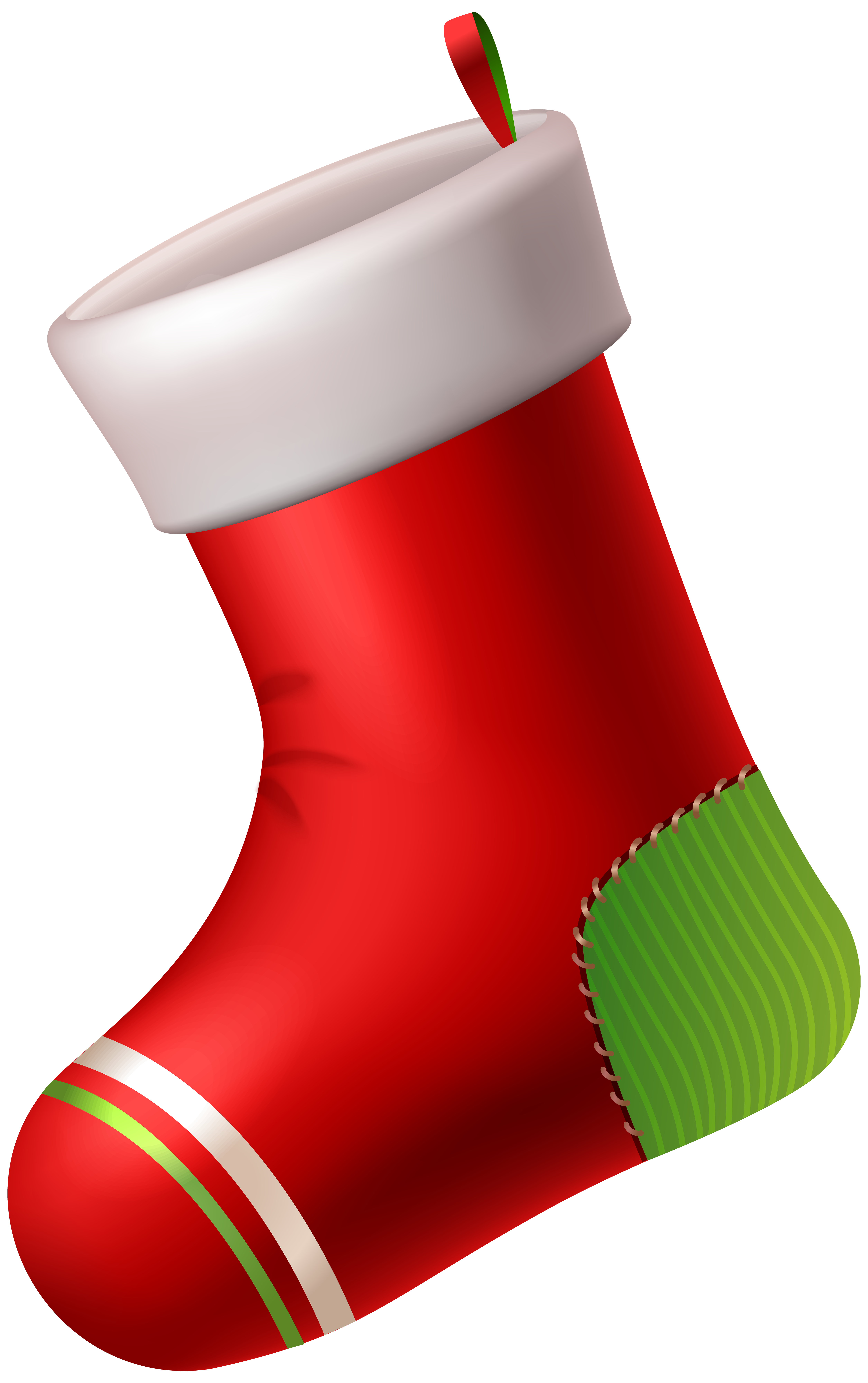 Red Christmas Stocking PNG Clip Art.