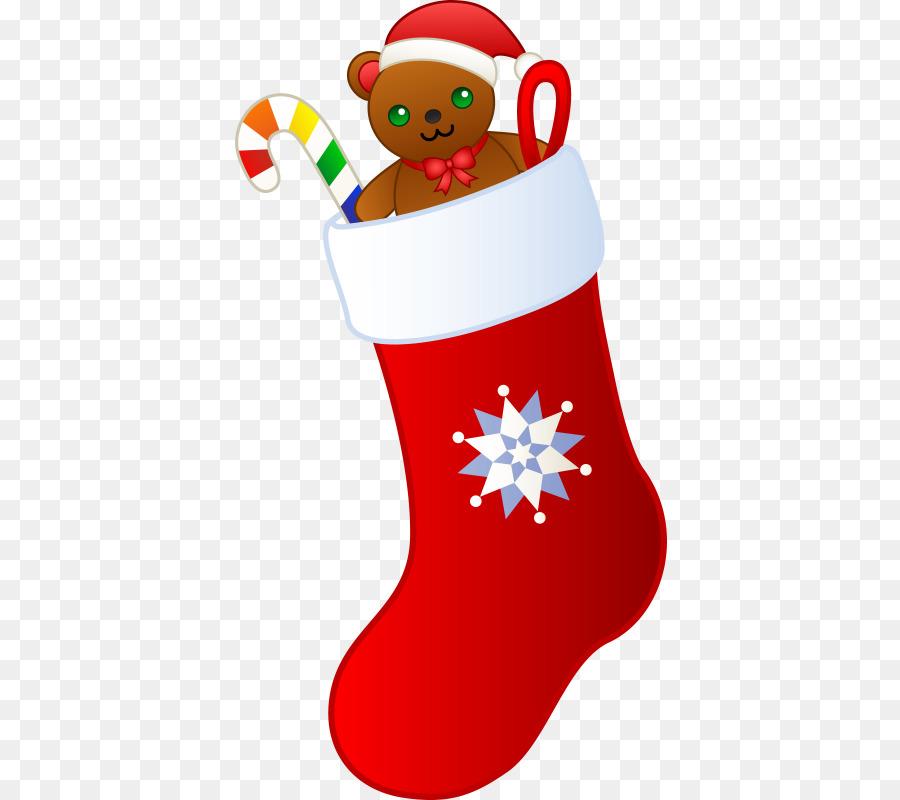 Christmas Stocking Cartoon clipart.