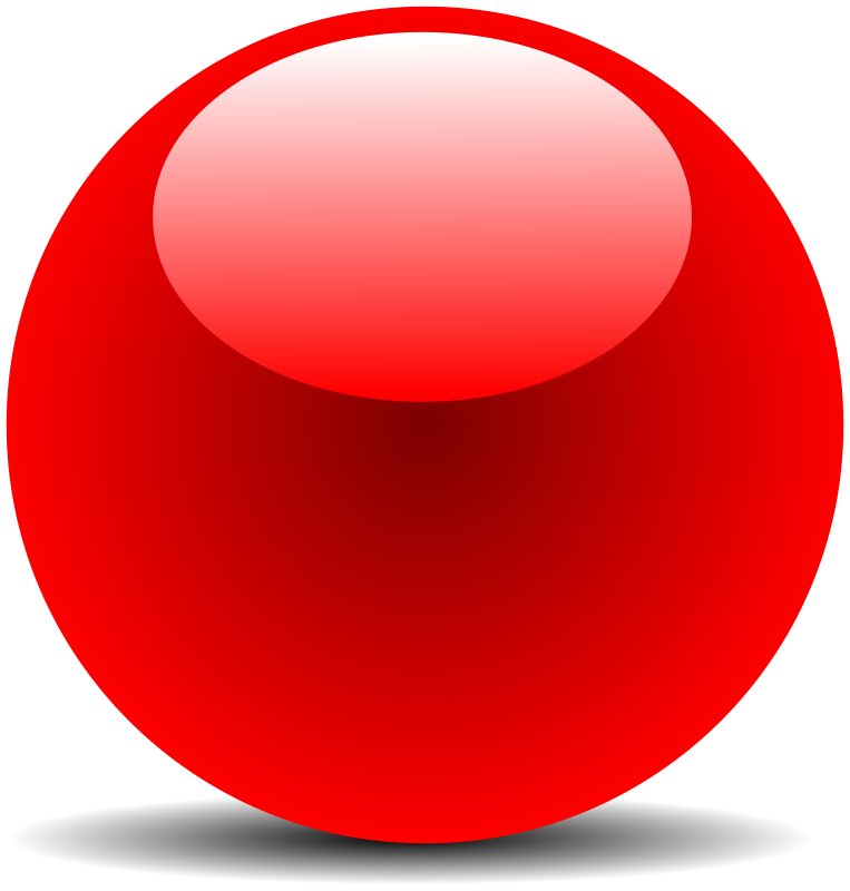 Free Clipart: Red Chrome Button.