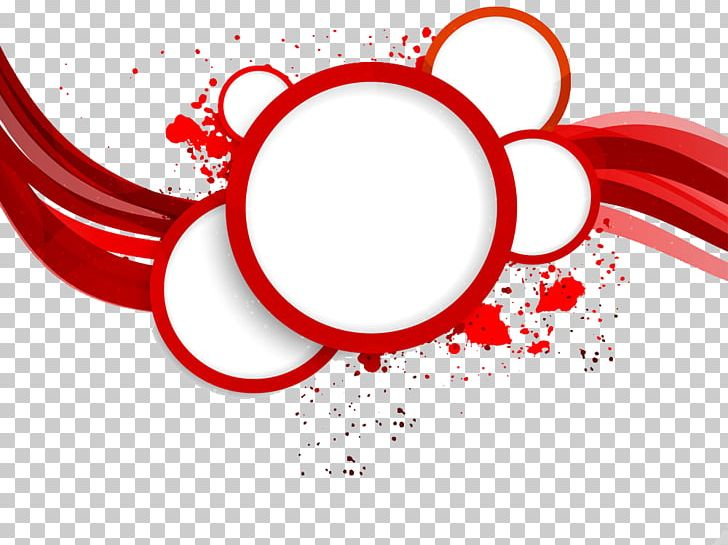 Red Circle Abstract Art PNG, Clipart, Border, Border Frame.