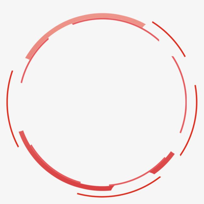 Red Simple Circle Border Texture, Circle Clipart, Red.