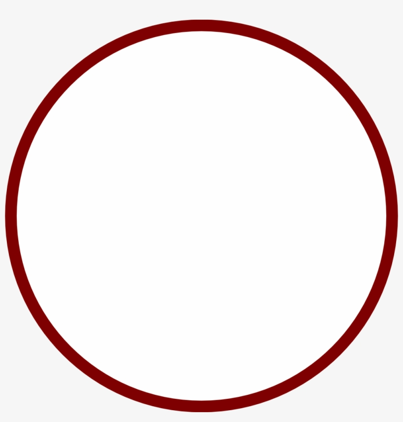Red Circle Outline Png.