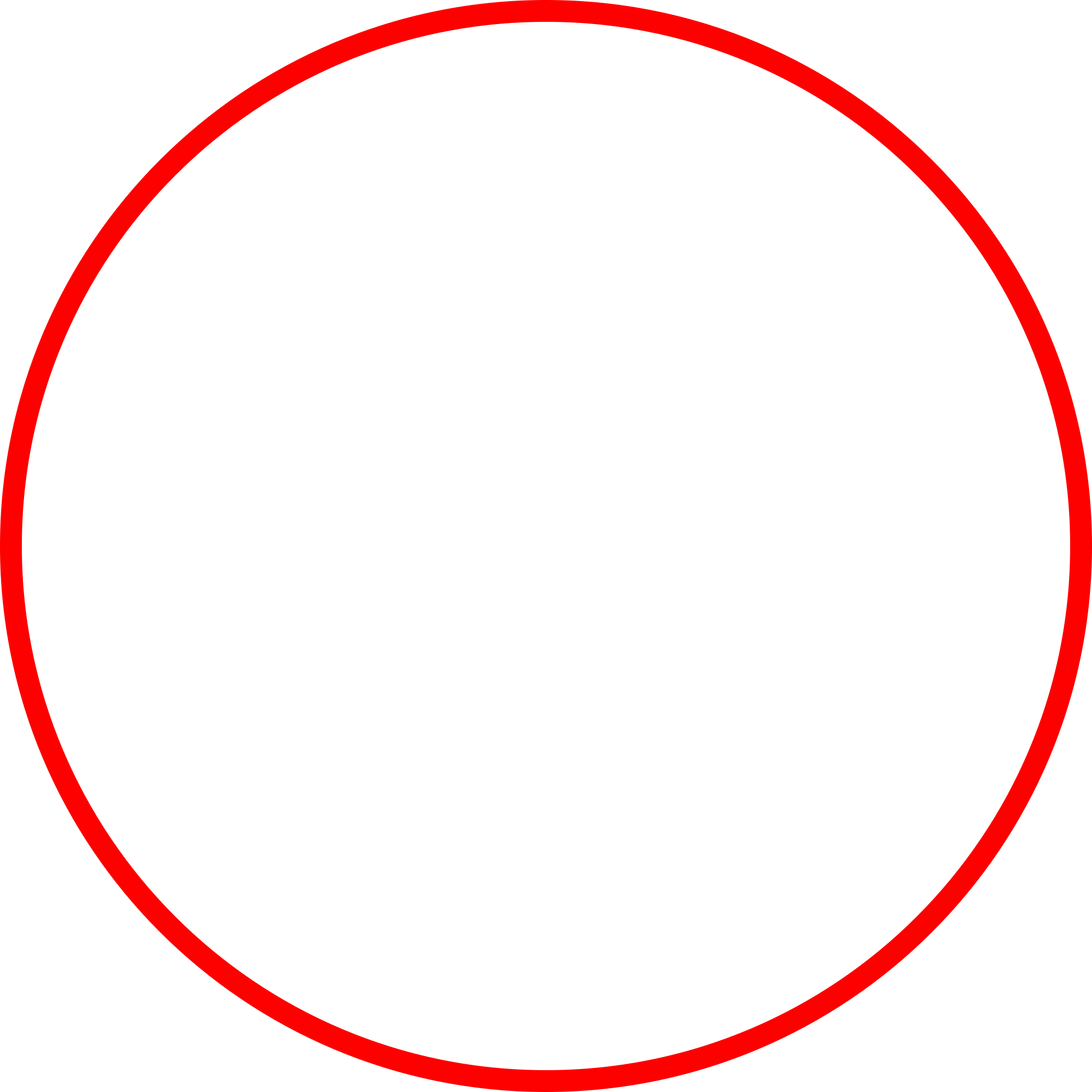 Red Circle Line Png #44653.