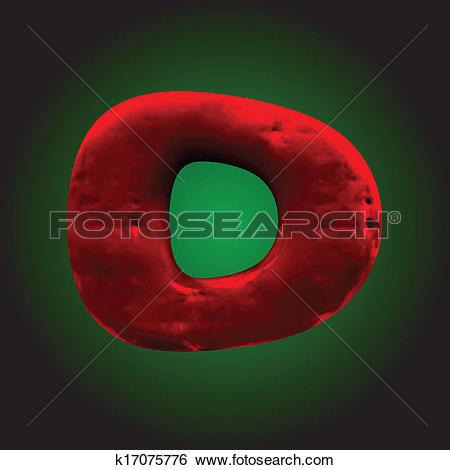 Clip Art of vector red clay figure k17075776.