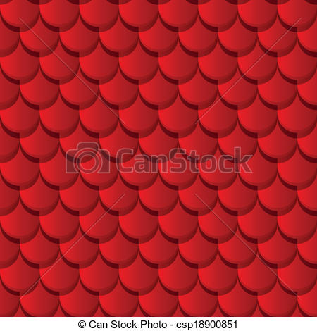Clipart Vector of Red clay roof tiles seamless pattern csp18900851.