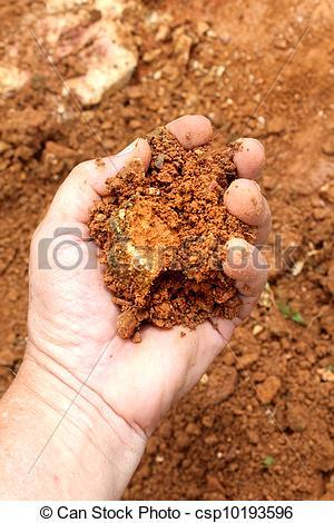 Clay soil clipart.