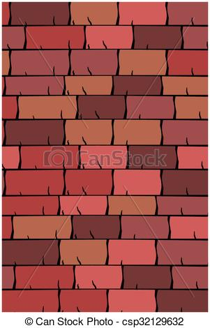 Vectors of Vector texture illustration of Seamless red clay roof.
