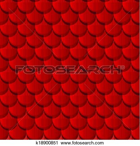 Clipart of Red clay roof tiles k18900851.