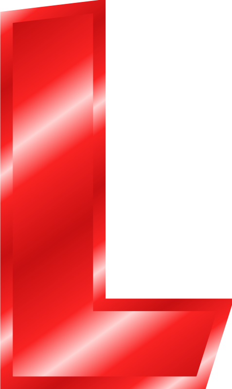 Free Clipart: Effect Letters Alphabet red.
