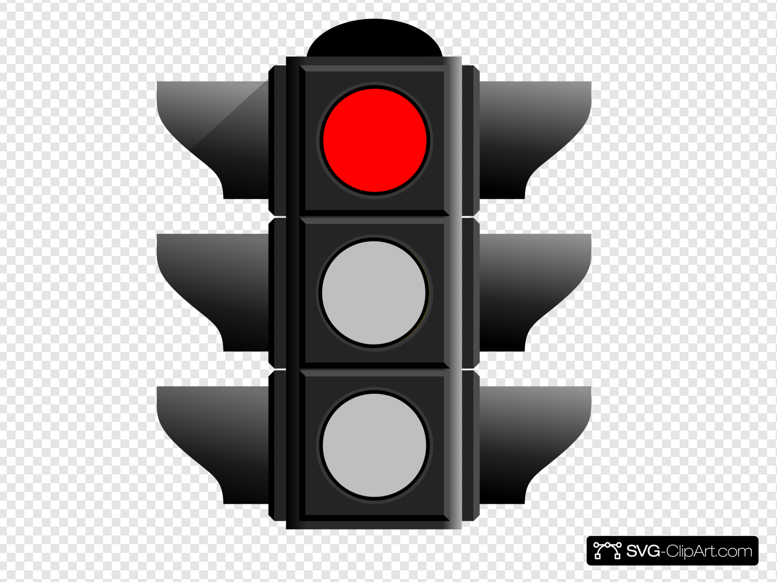 Red Traffic Light Clip art, Icon and SVG.