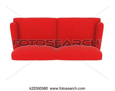 Stock Illustrations of red cloth sofa k22550580.