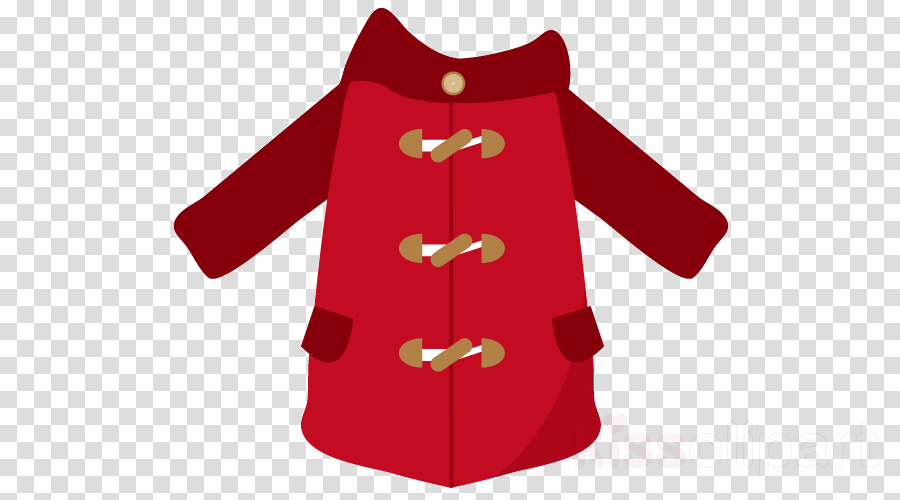 clothing red outerwear coat sleeve clipart.