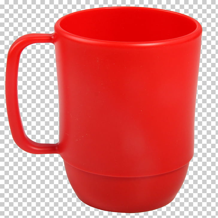 Coffee cup Red Mug, Red cups PNG clipart.
