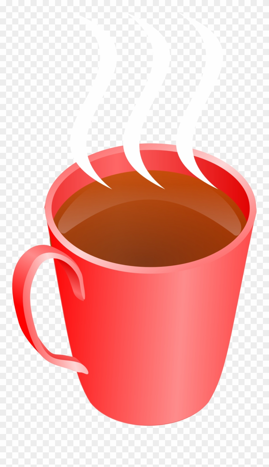 Coffee Steaming Hot Drink Cup Transparent Image.