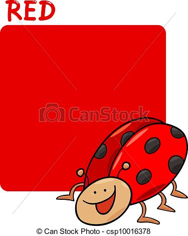 Vectors Illustration of Color Red and Ladybug Cartoon.