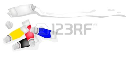 220 Clip Art Paint Tube Stock Vector Illustration And Royalty Free.