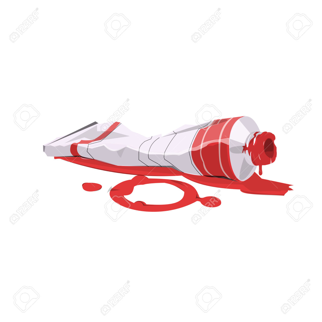 Illustration Of Paint Tube Red Color Royalty Free Cliparts.