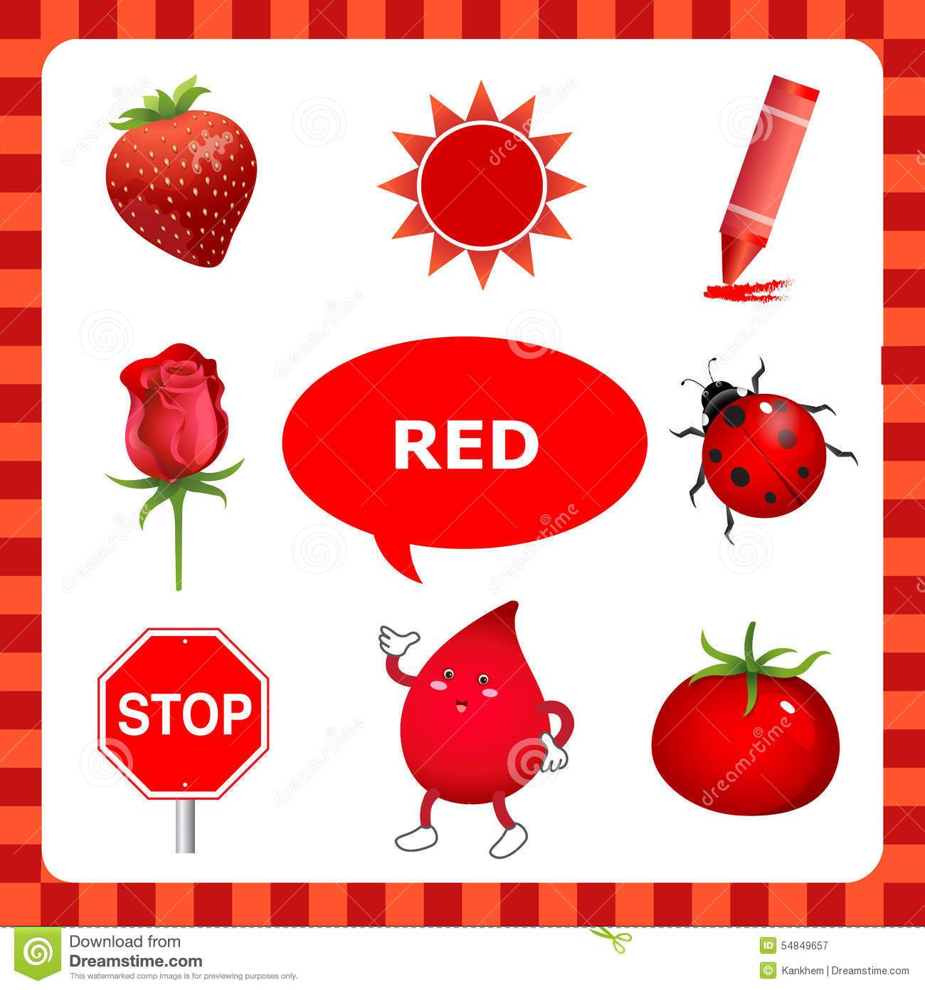 Red colour objects clipart 1 » Clipart Portal.