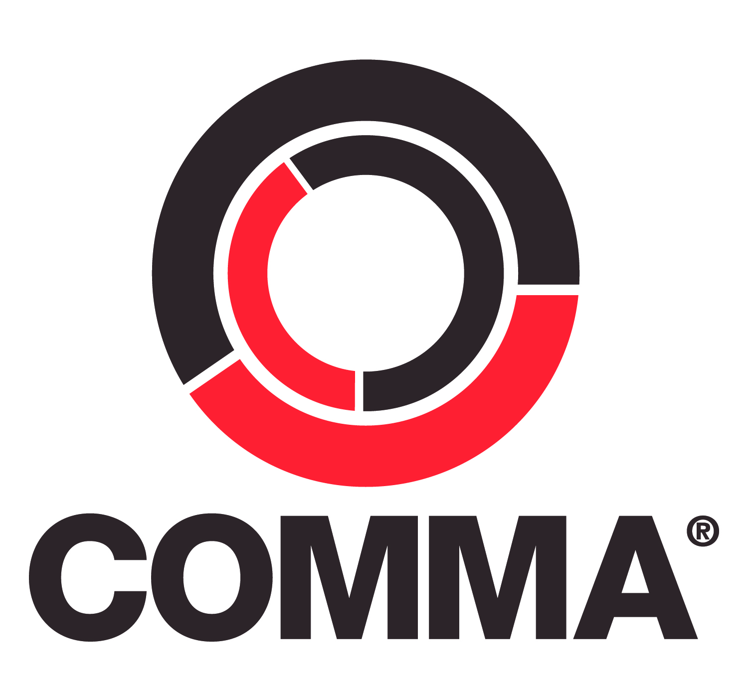 Red comma Logos.