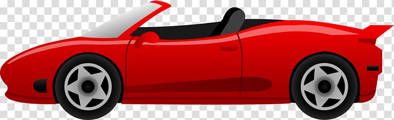 Red convertible coupe illustration, Sports car Ferrari.