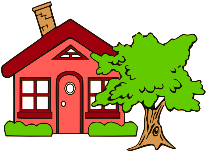 Cottage With Tree Red
