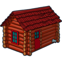 Red Cottage Icon, PNG ClipArt Image.