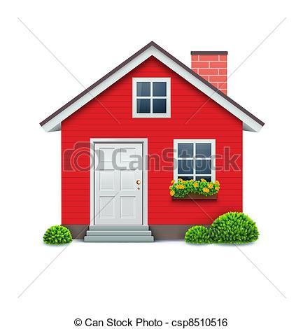 Clip Art Vector of house icon.