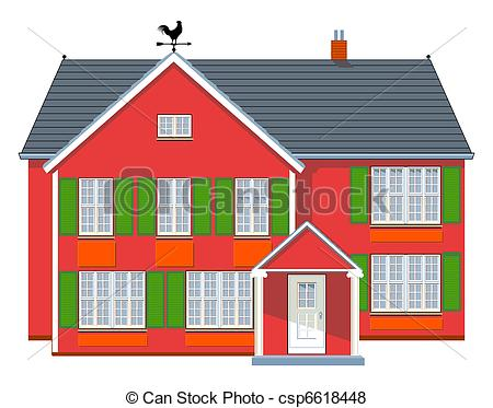 Vector of Red House csp6618448.