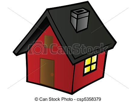 EPS Vectors of Vector illustrations little red house.