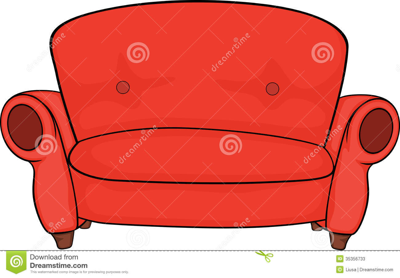 Red couch clipart clipground for Sofa clipart