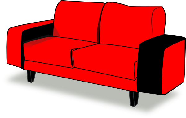 Red Couch Clipart.