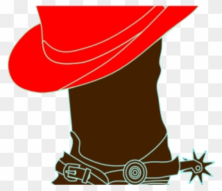 Red Clipart Cowgirl Hat.