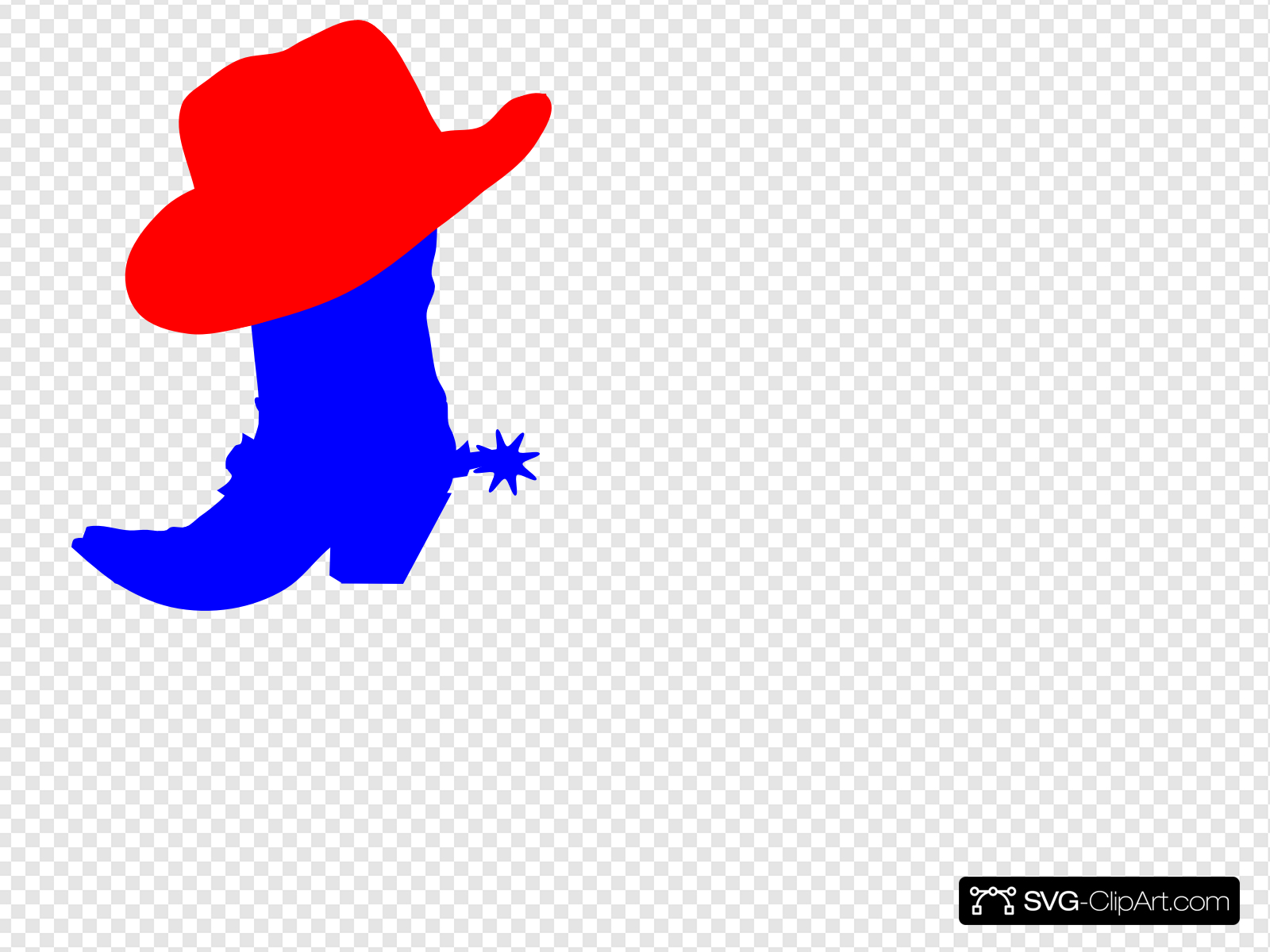 Red Cowboy Hat Clip art, Icon and SVG.