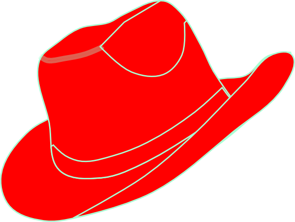 Red Cowgirl Hat Clip Art at Clker.com.
