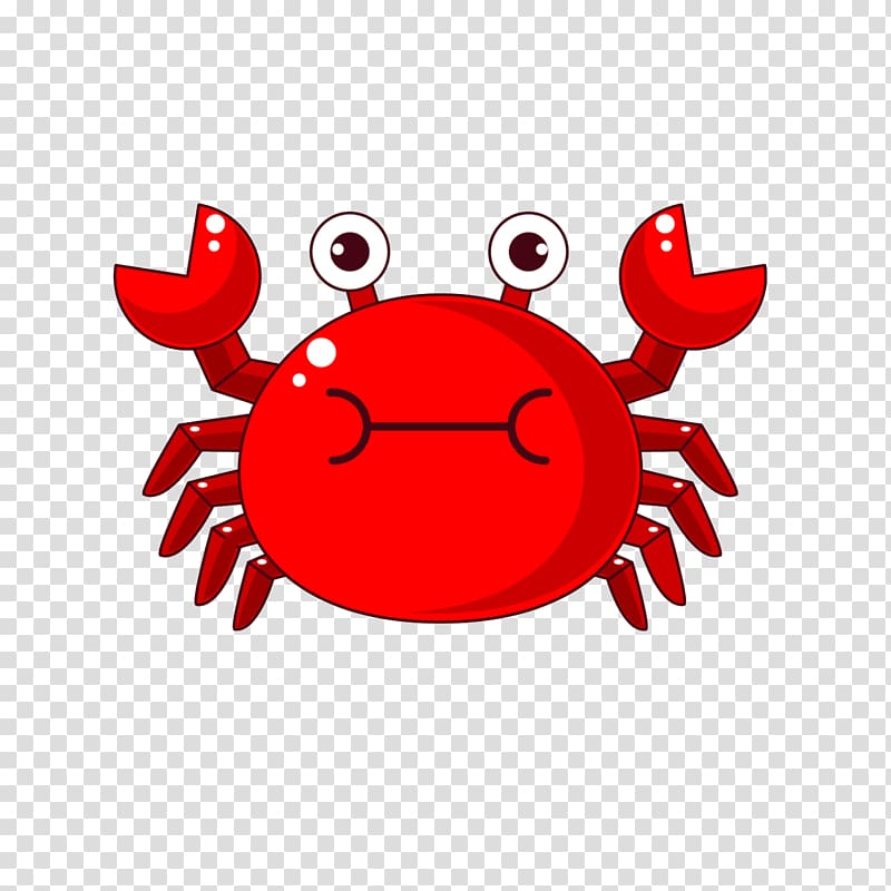 Red crab illustration, Crab Child, Cartoon crab transparent.
