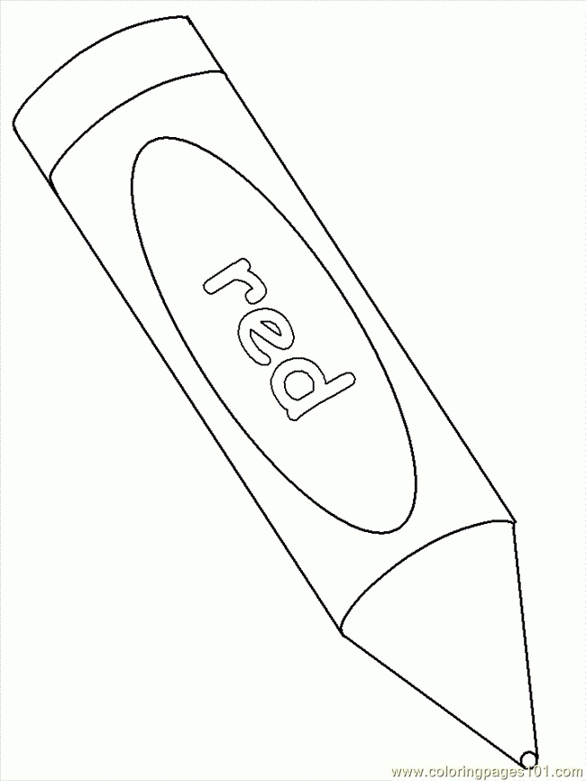162 Red Crayon free clipart.