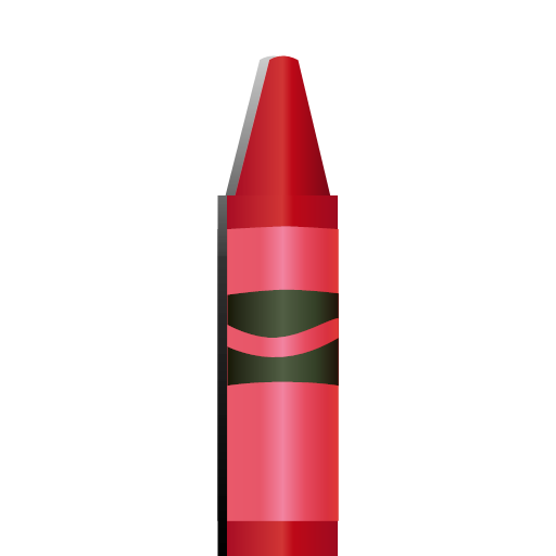 red crayon icon.