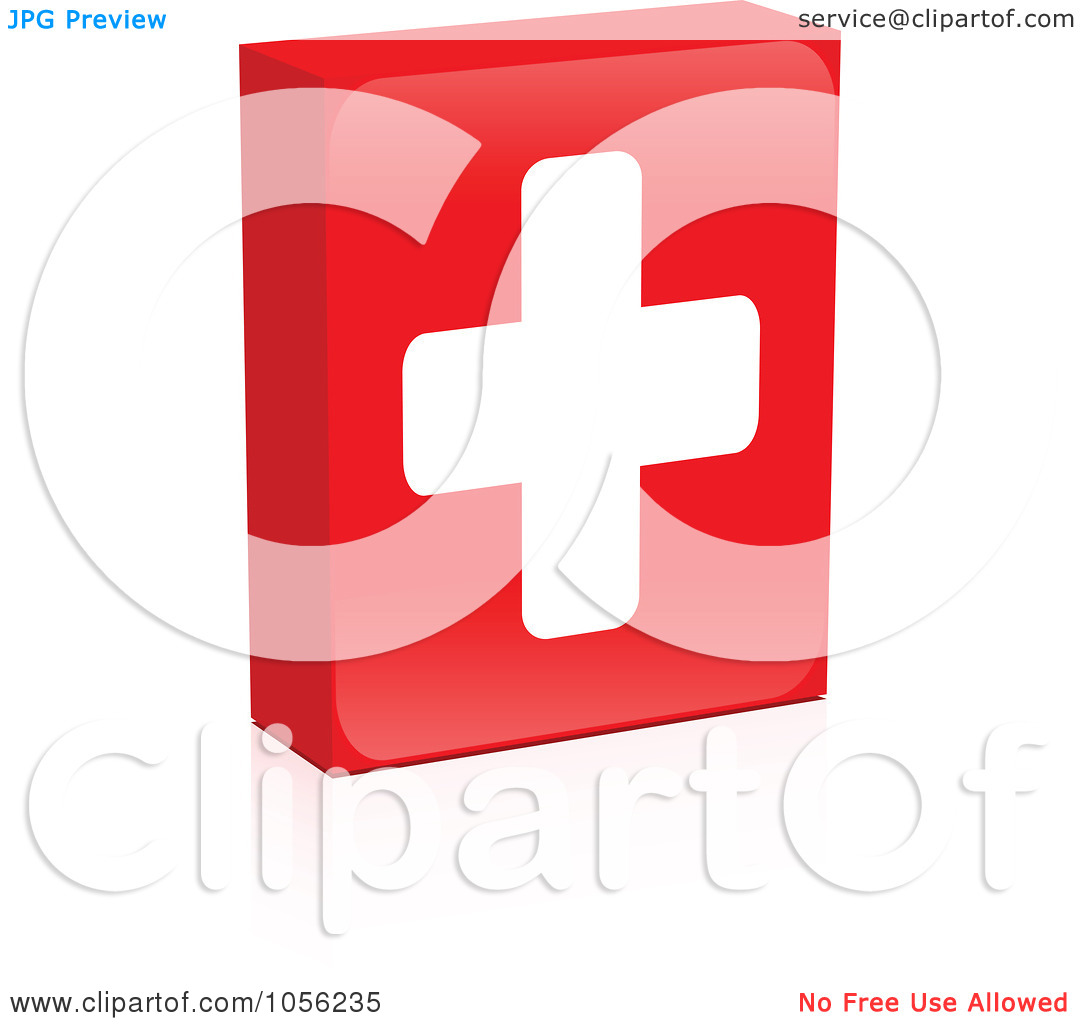 Red cross box clipart clipground royalty free vector clip art illustration of a red medical cross box with a reflection by andrei marincas biocorpaavc Images