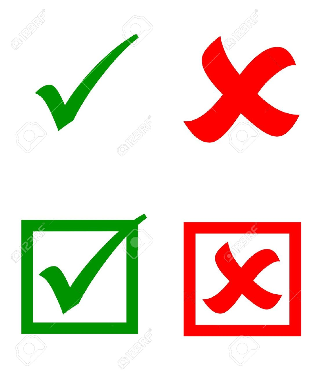 Check Mark Stickers Stock Photo, Picture And Royalty Free Image.