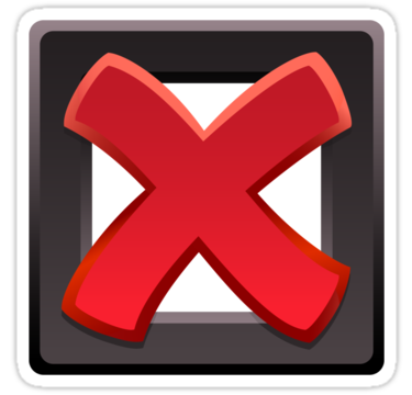 """Red cross and tick box sticker"""" Stickers by Mhea."""