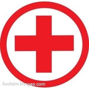 Clip Art of a Medical Symbol.