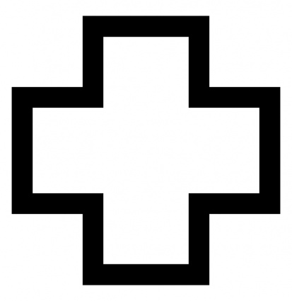 Red Cross Clipart Black And White.